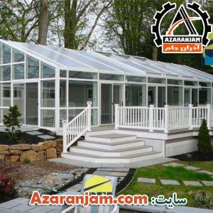 سقف ثابت حیاط و استخر