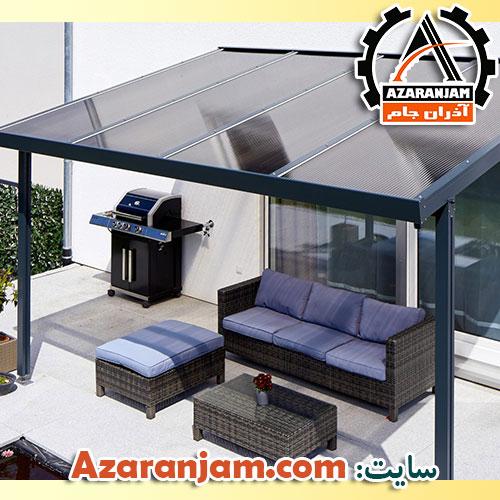 سقف شیشه ای حیاط