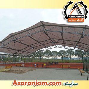 نمونه سقف پارچه ای حیاط و فضای باز