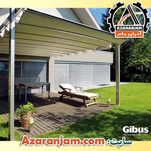 پوشش سقف پارچه ای برزنتی برای حیاط