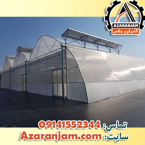 ساخت گلخانه تونلی ، اسپانیایی ، نایلونی ، شیشه ای در دهاقان و آران و بیدگل