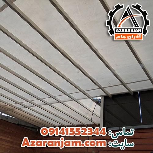پروژه سقف متحرک پارچه ای رستوران کافه پولی